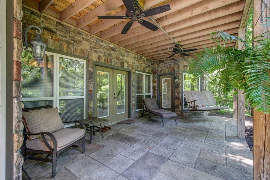 Large, covered porch