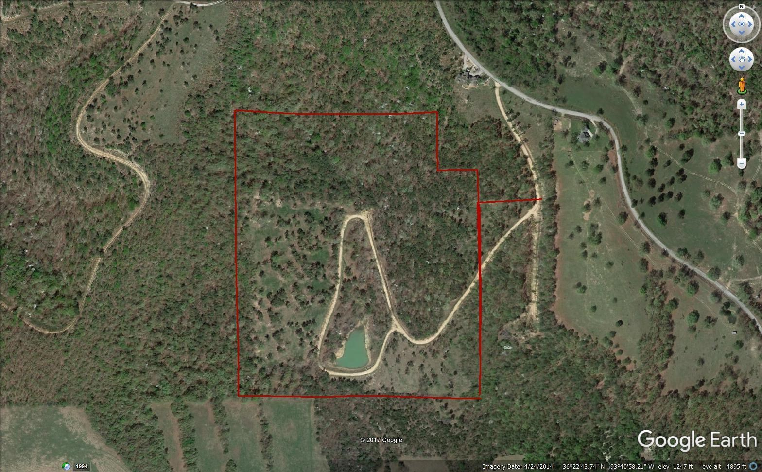 40 ac of Land for Sale near Eureka Springs , Arkansas
