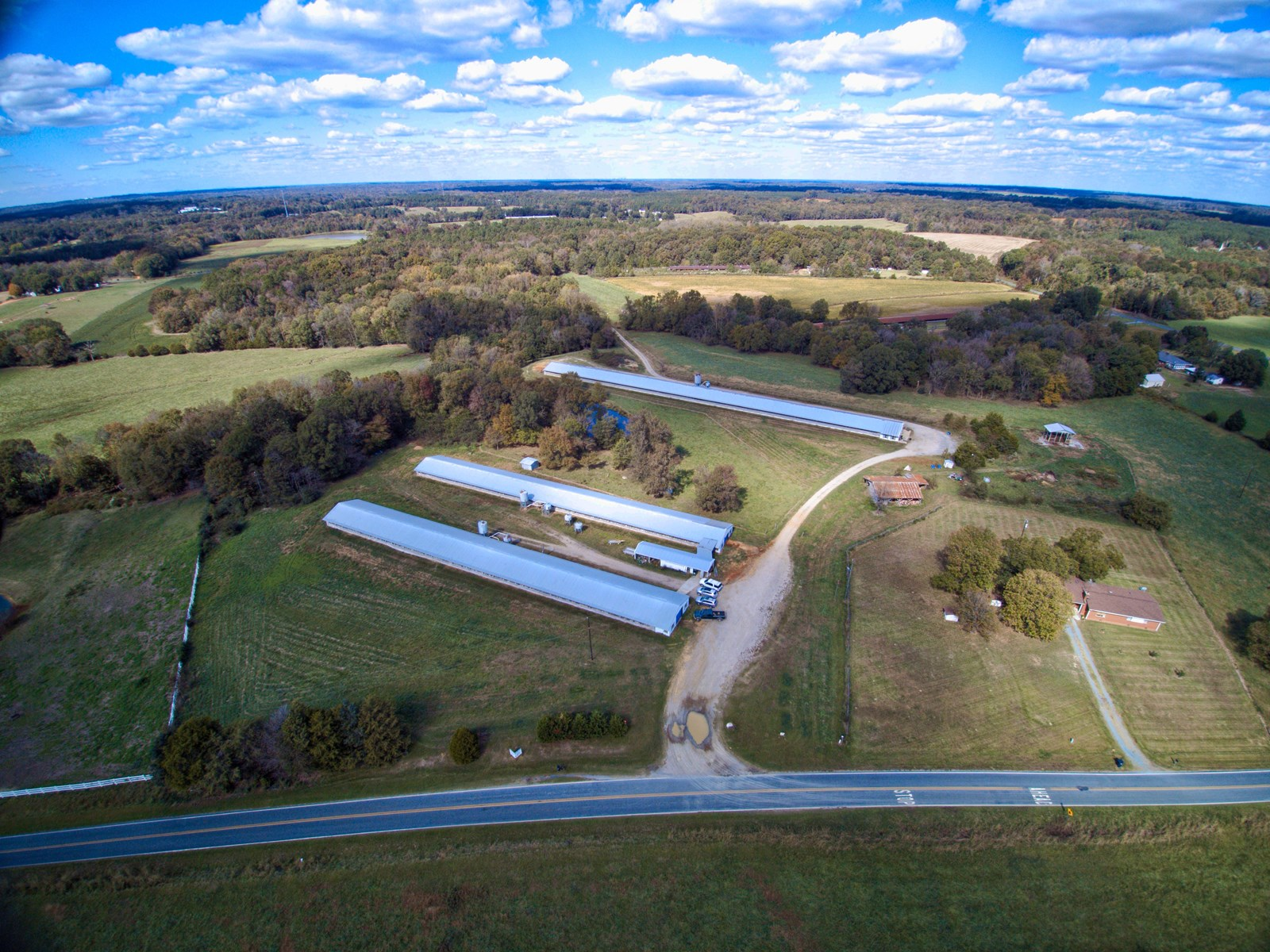38 Acre Poultry Farm With Home For Sale Near Waxhaw, NC