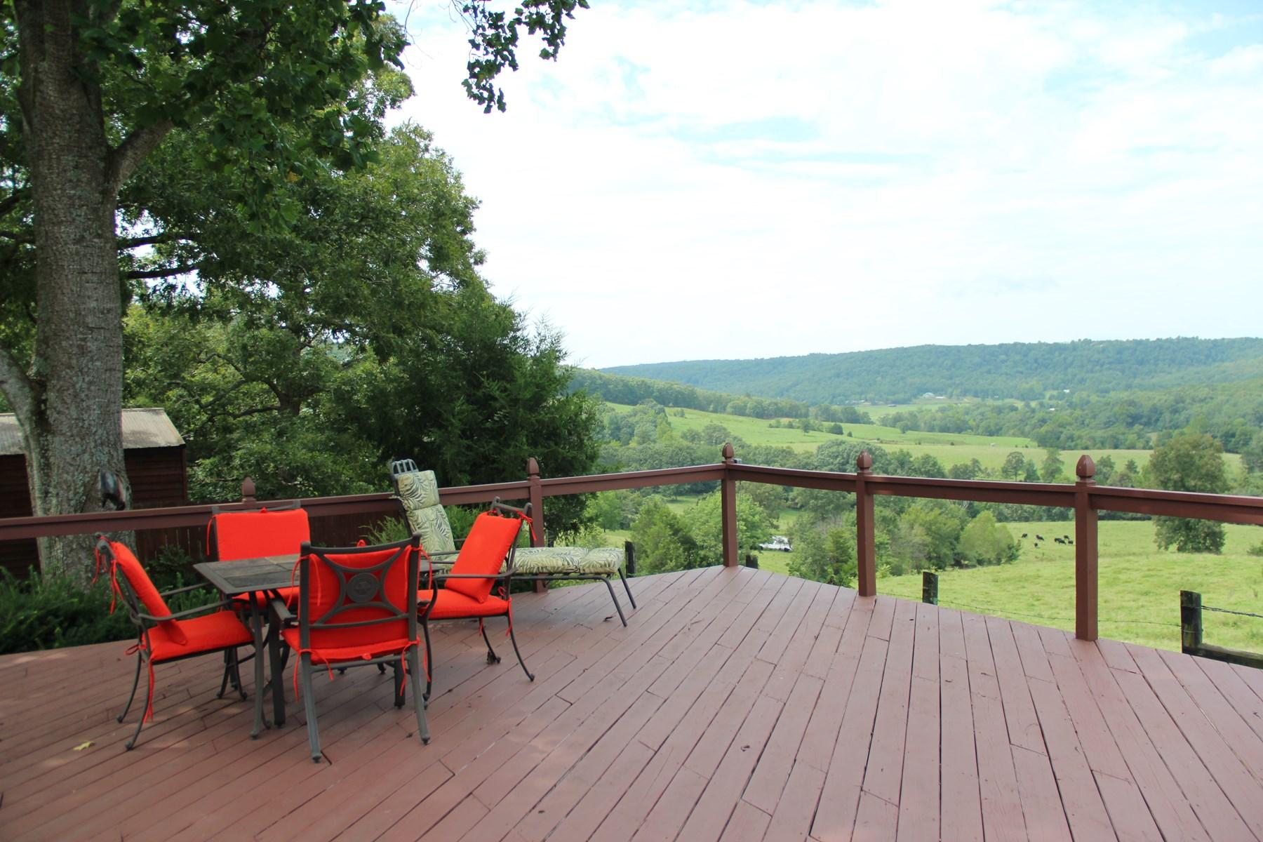 Main Home deck overlooking valley