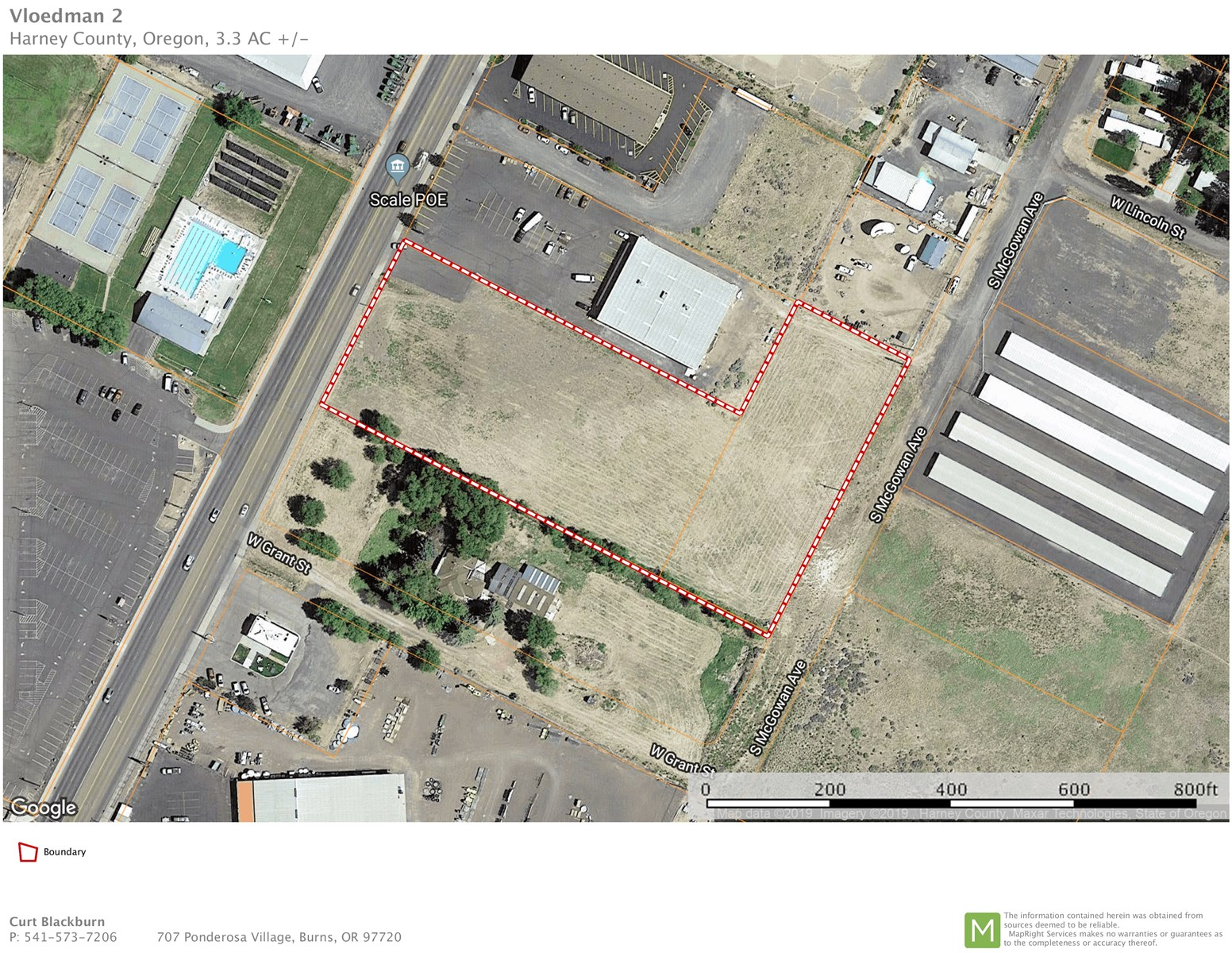 BURNS, OR - TWO COMMERCIAL LOTS - 3.52 ACRES-GREAT LOCATION