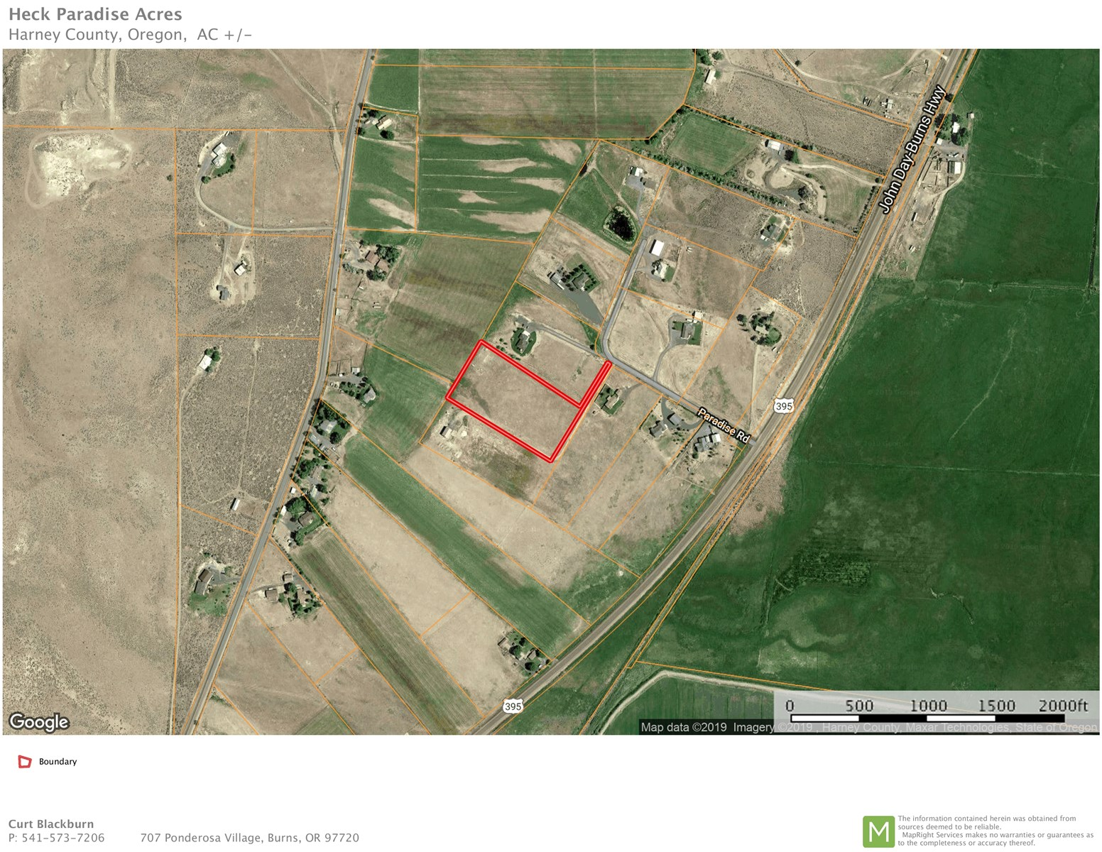 BURNS, OR - 5 ACRES IN PARADISE ACRES - CLOSE TO TOWN