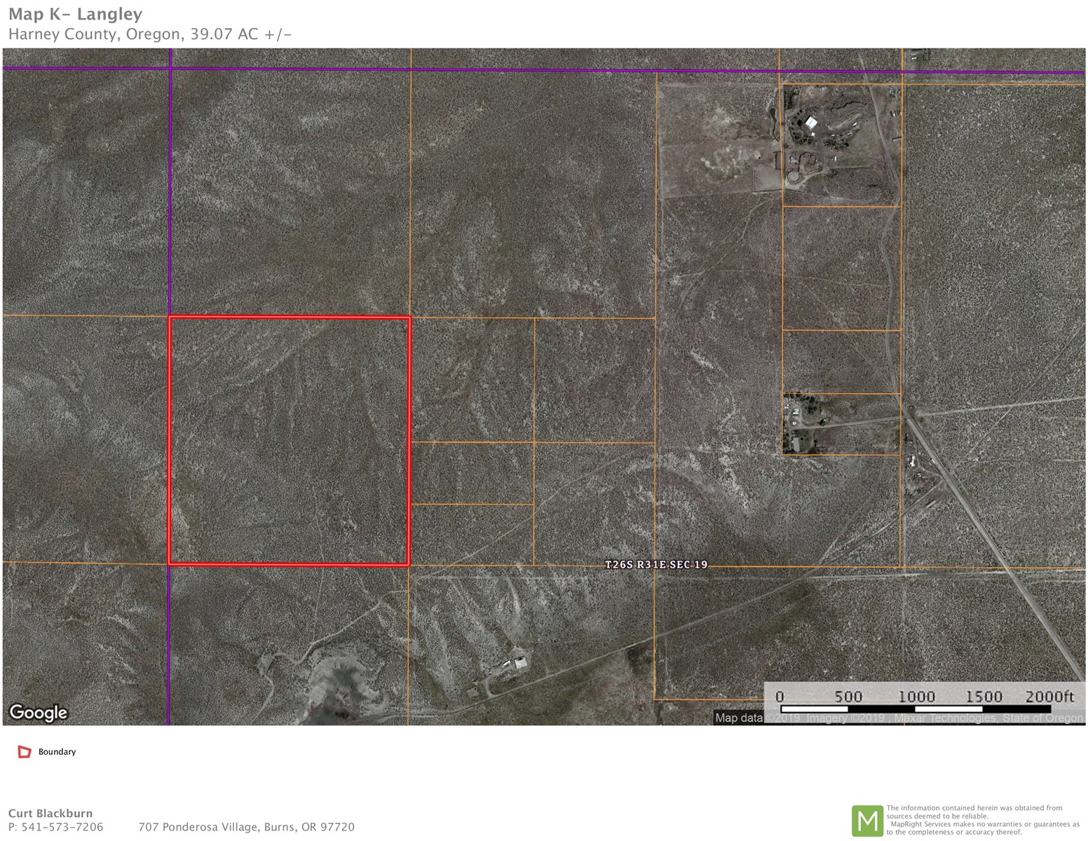"BURNS, OR - 39.07 ACRES - DOUBLE ""OO"" RD. AREA"