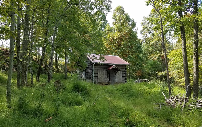 """ONE OF A KIND HAND HUED HISTORICAL LOG CABIN  IN WV"""