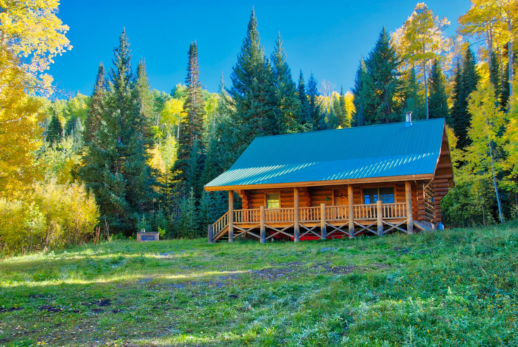 Log Cabin For Sale in Western Colorado with Acreage