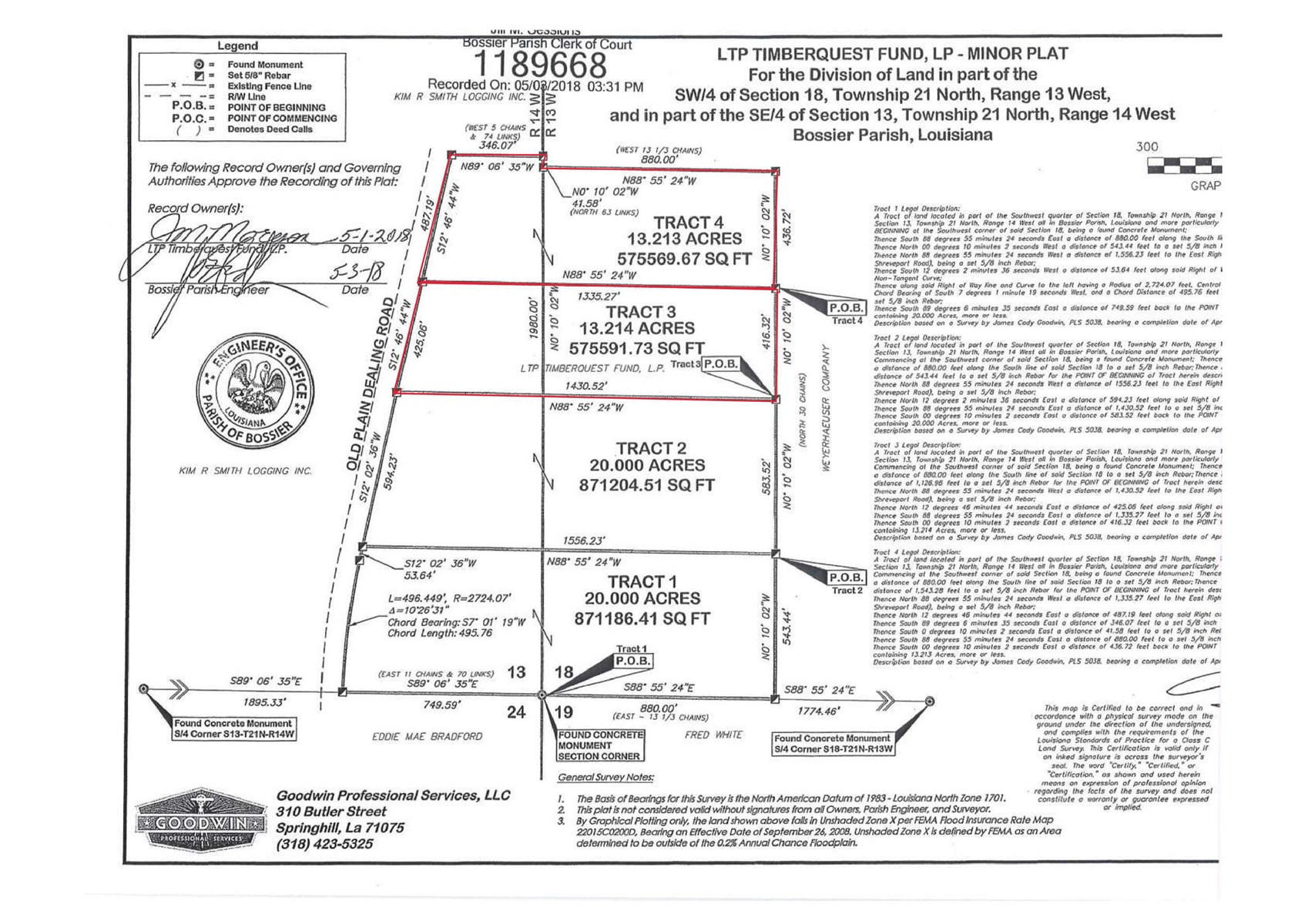 26.43 Acre Development/Timber Acreage Benton, LA