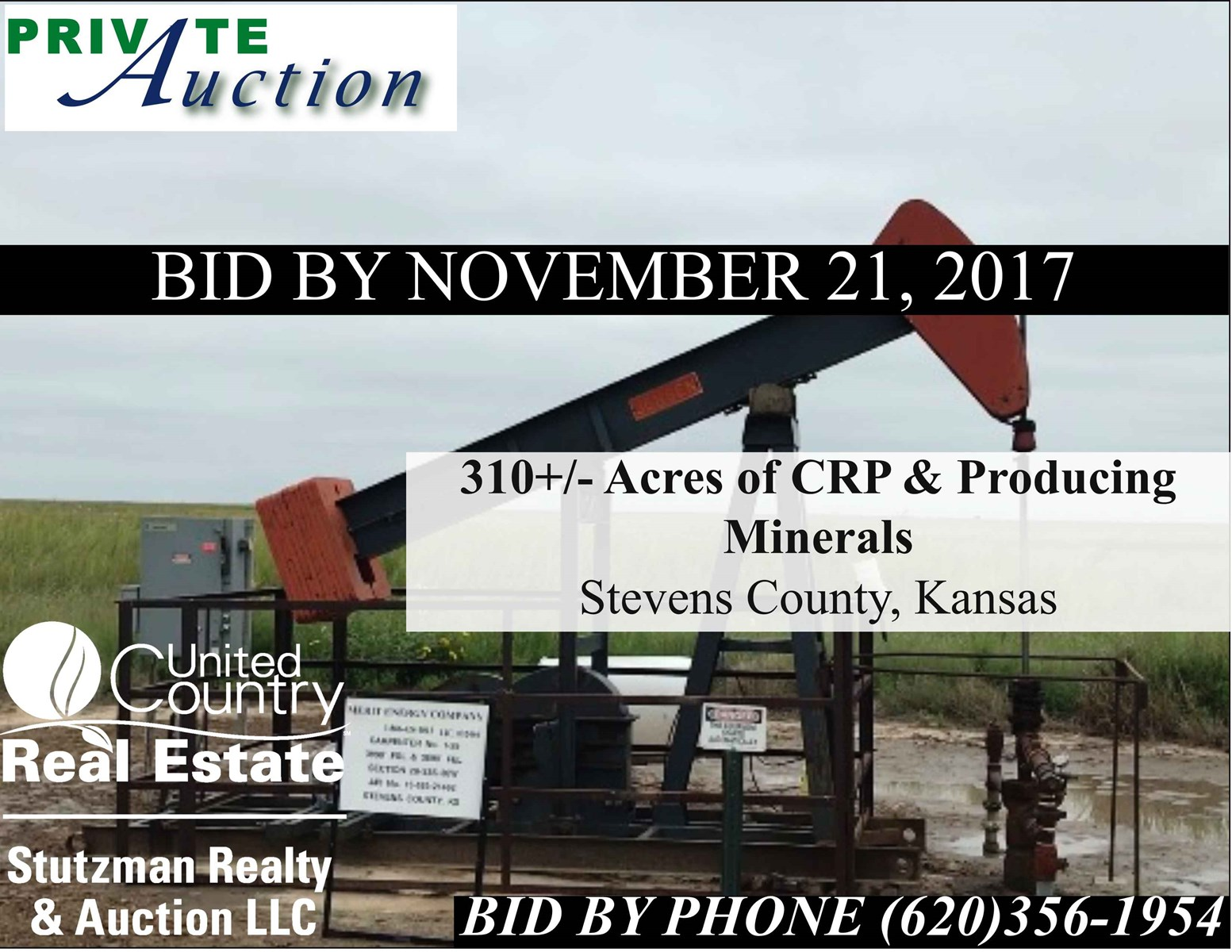 310 ACRES OF CRP & PRODUCING MINERALS IN STEVENS COUNTY, KS
