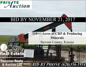 CRP & PRODUCING MINERALS IN STEVENS COUNTY, KANSAS