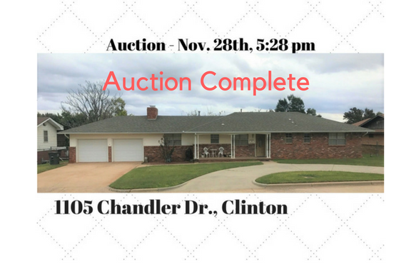 Clinton, OK Home to Auction