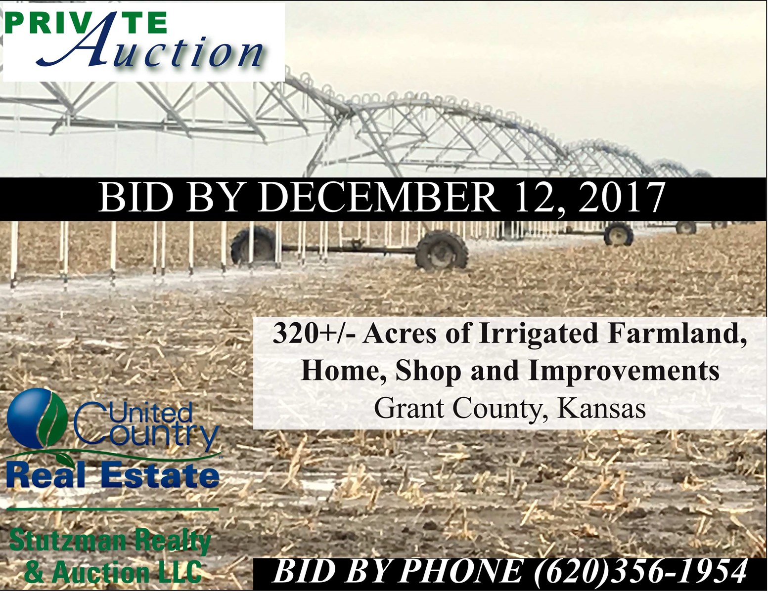 PRIVATE AUCTION - ABSOLUTE ~ NO RESERVE ~ IRRIGATED FARM