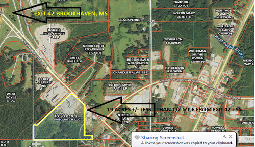 Commercial Building and Land For Sale Brookhaven Mississippi
