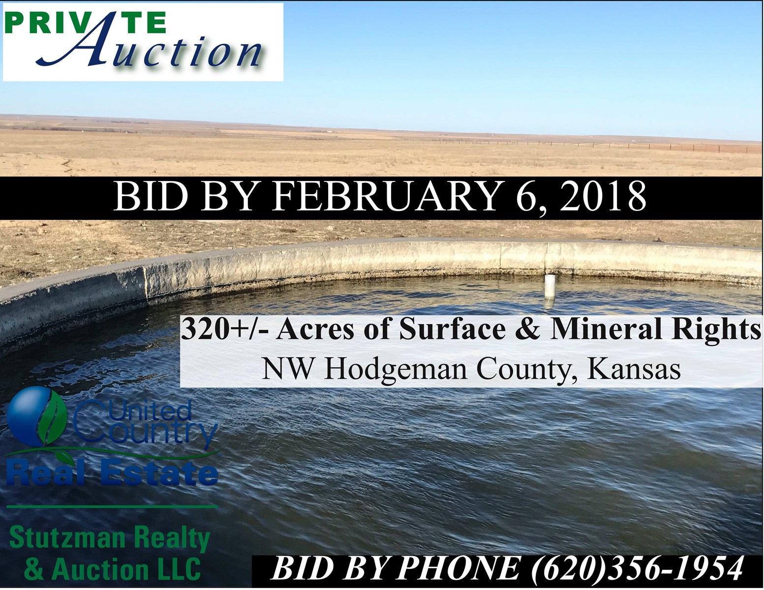 PRIVATE AUCTION ~ HODGEMAN COUNTY, KS ~ PASTURE & MINERALS