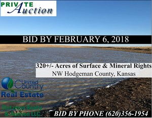 PRIVATE AUCTION ~ HODGEMAN COUNTY, KS ~ PASTURE & MINERALS