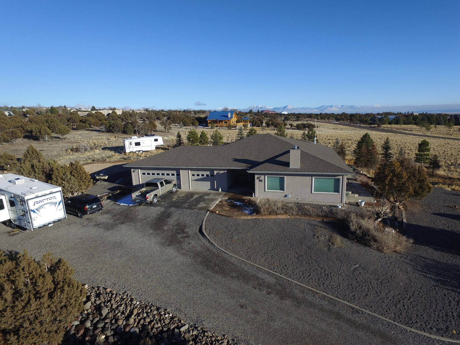 Home with acreage near Cedaredge, CO has stunning views