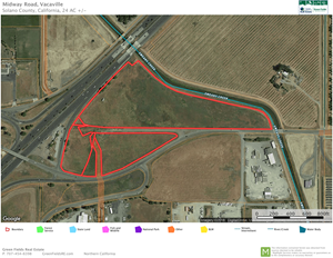 HIGHWAY FRONTAGE - SOLANO COUNTY COMMERCIAL LAND FOR SALE