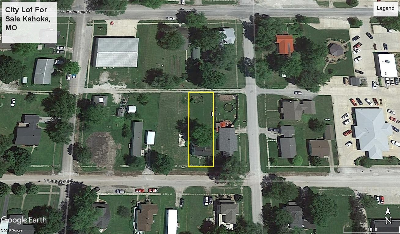 VACANT LOT FOR SALE, KAHOKA, MISSOURI, CITY LOT FOR SALE MO