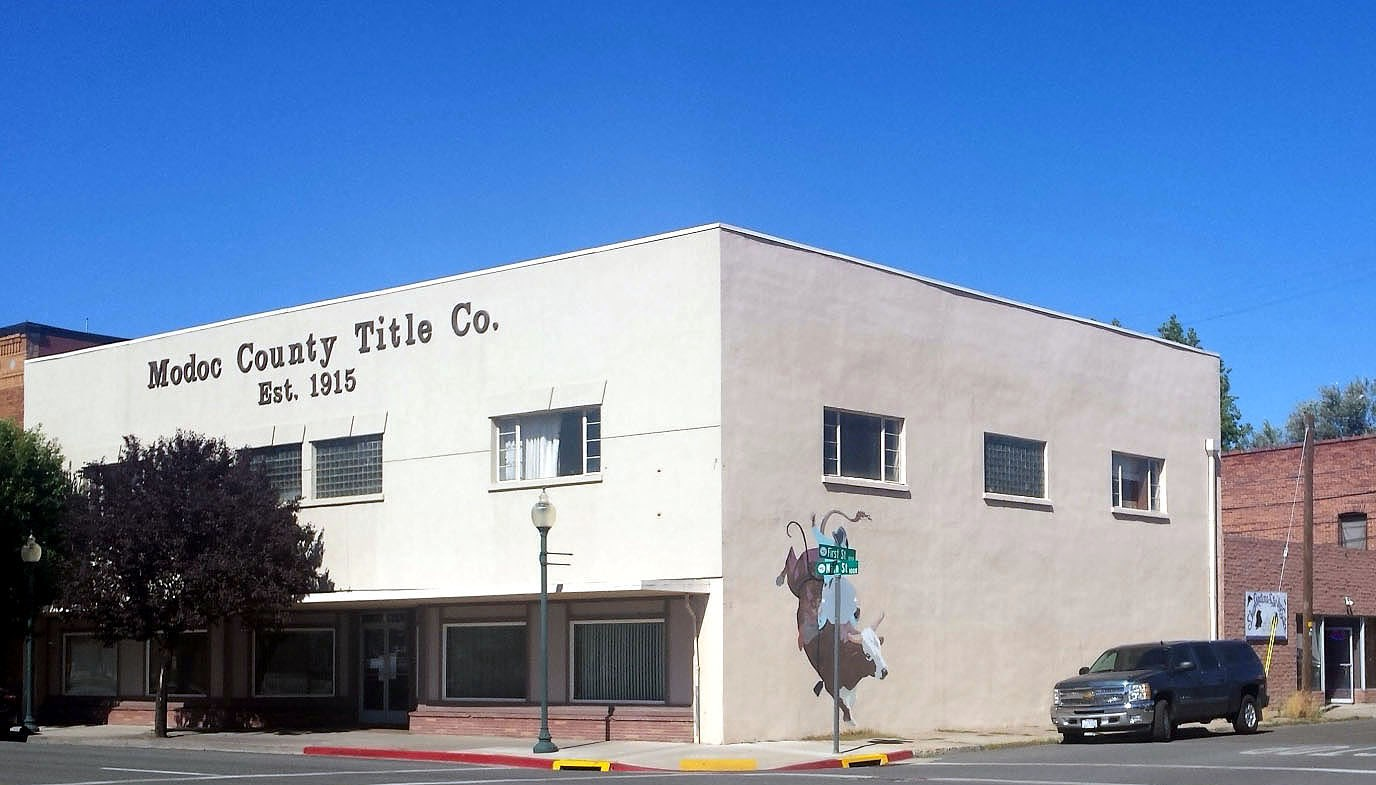 Modoc Title Building, two stories, approximately 12,240 sq/f