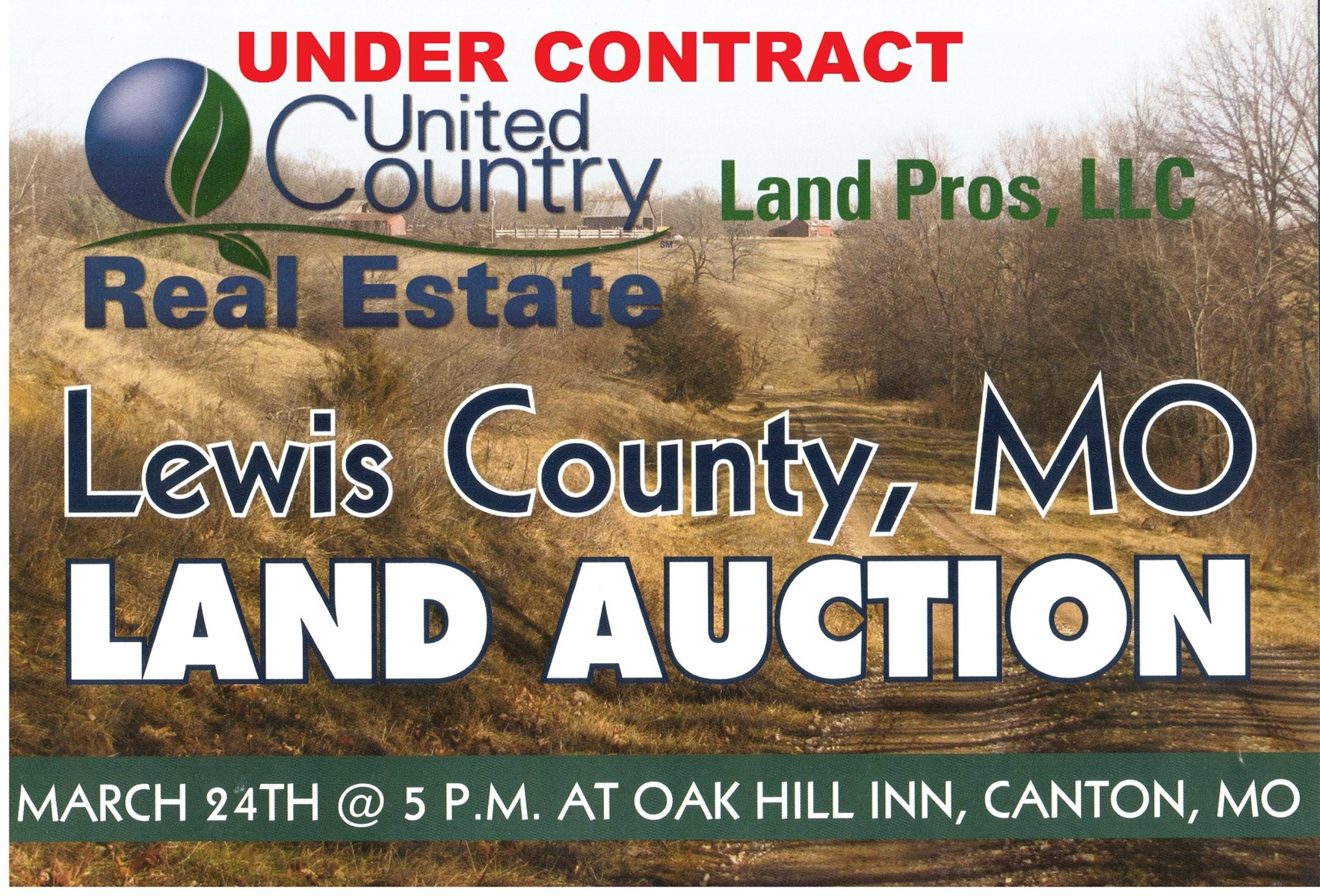 NORTHERN MO LAND AUCTION, PASTURE, ROW CROP LAND AUCTION