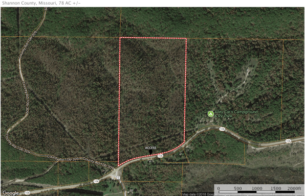 Shannon County Missouri Land For Lease 78 Acres