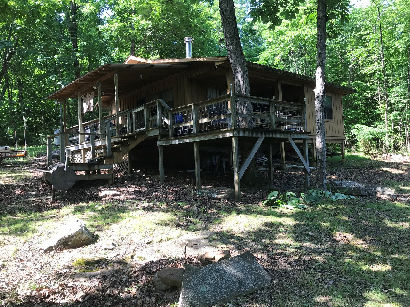 Rustic Cabin With Acreage For Sale In Searcy Co Arkansas