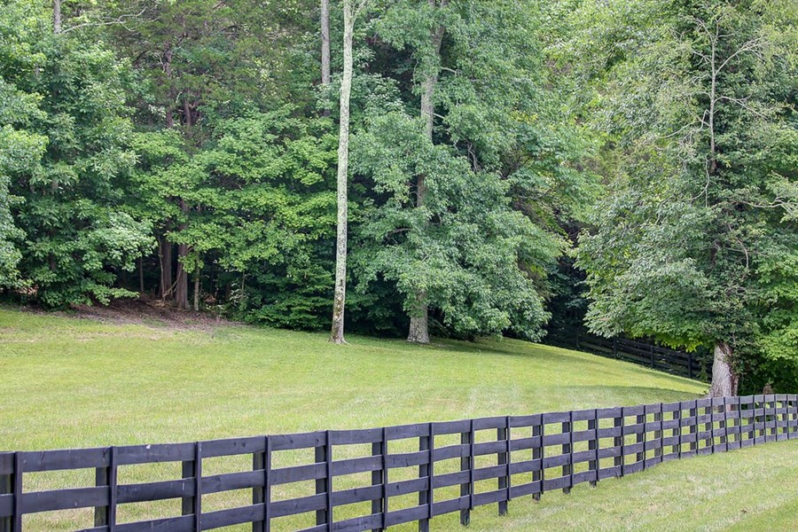 Classic fencing along road front.
