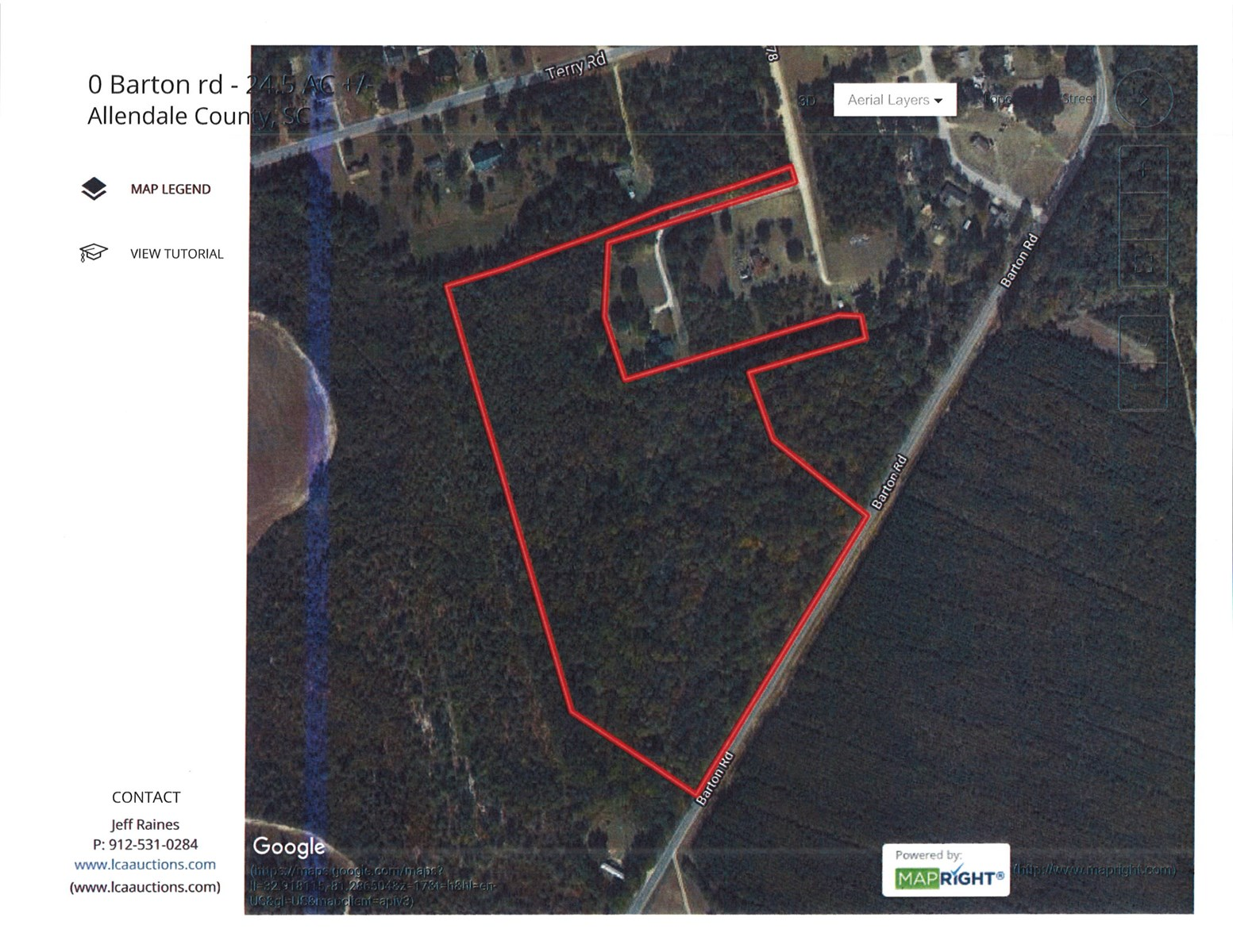 25 +/- Acres with Small Cypress Bay in Fairfax, SC