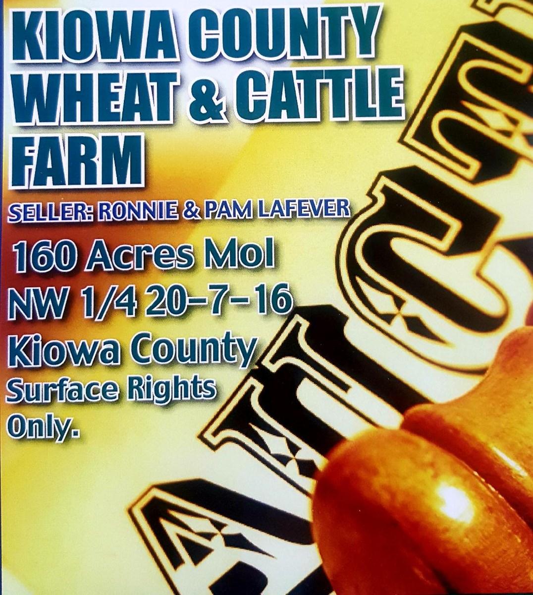 Kiowa County Farm For Sale 160 Acres