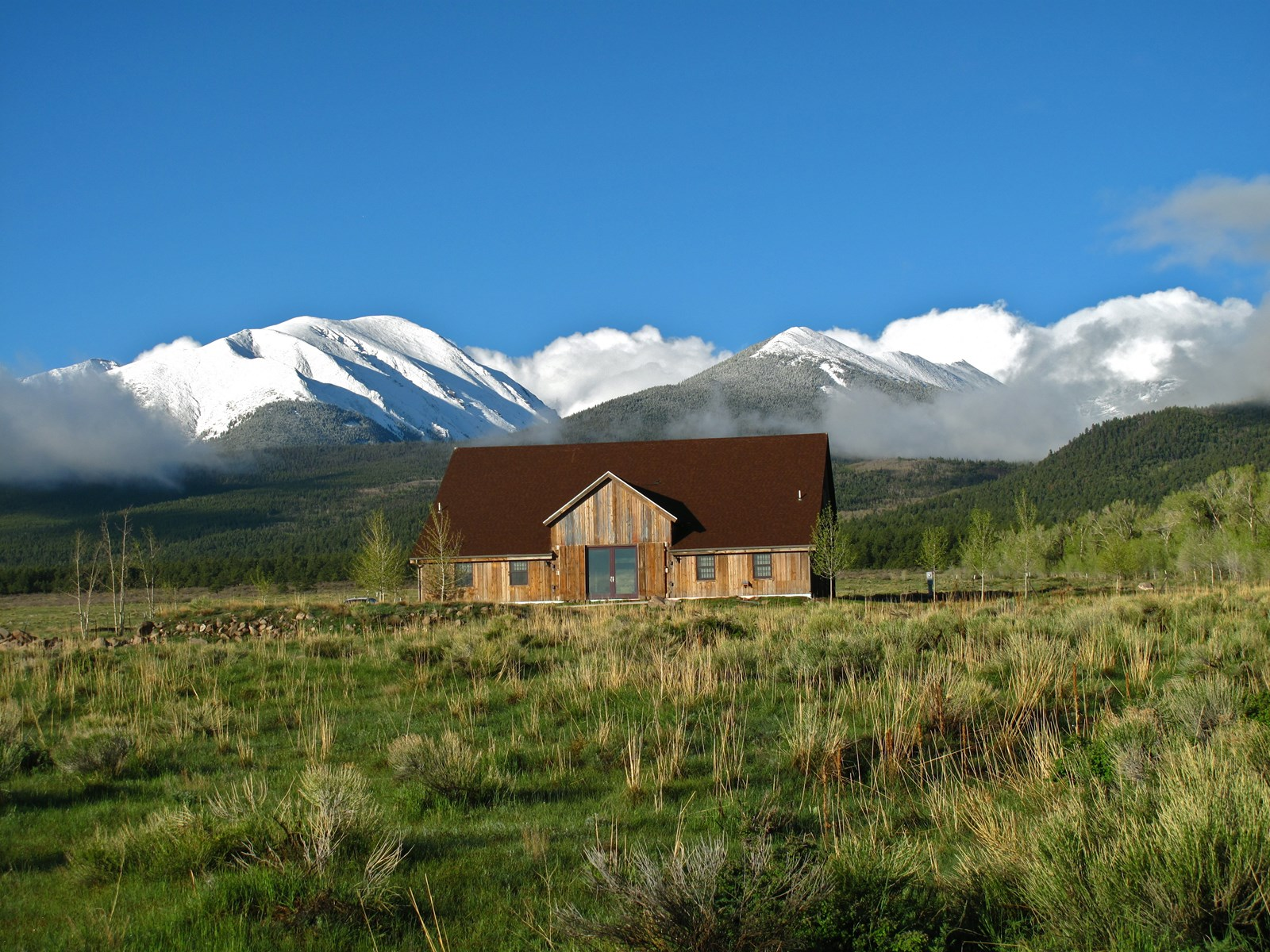 Reclaimed Barnwood Home in Westcliffe Co