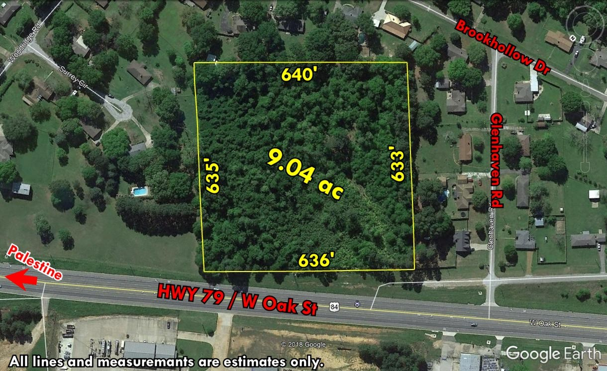 ACREAGE FOR SALE WITH BUSY HIGHWAY FRONTAGE IN PALESTINE TX