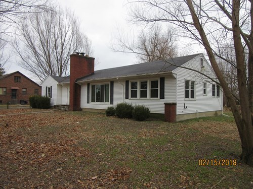 Home for Sale in Cairo, IL - Ranch Style Across from Park