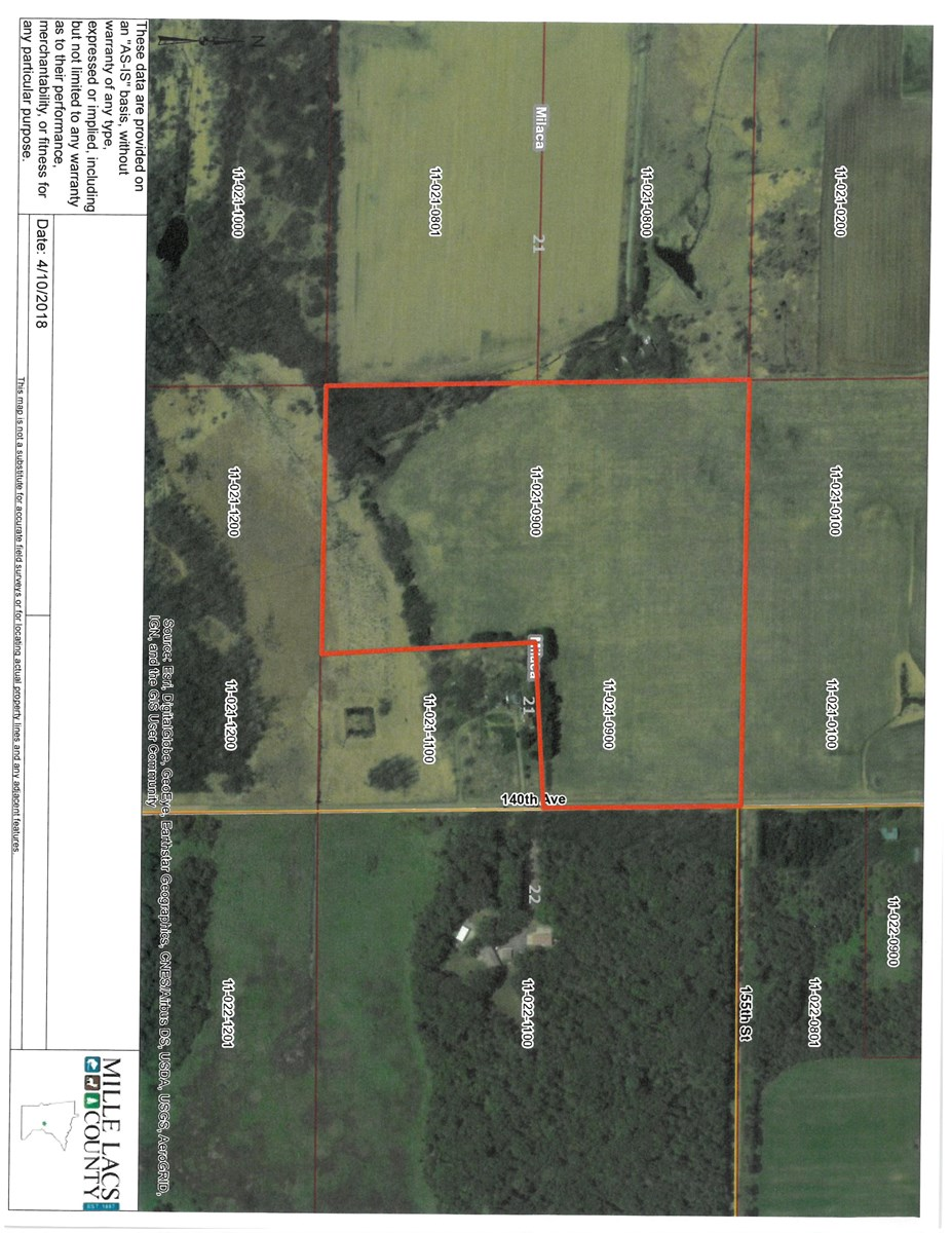 Mille Lacs Cty 32 Acres For Sale