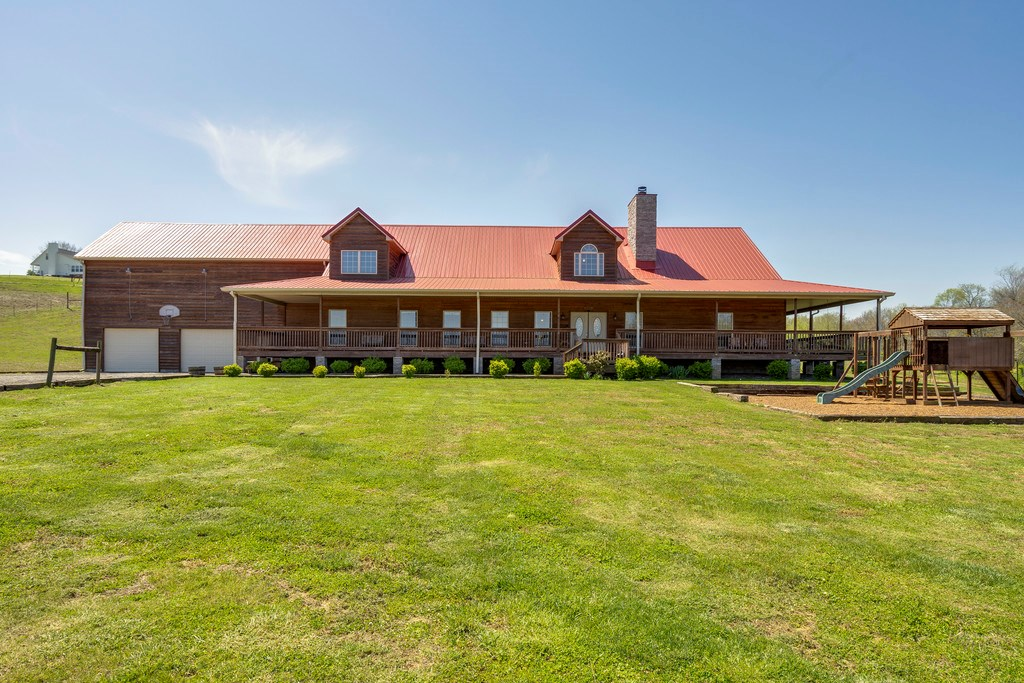 MOUNT PLEASANT MAURY COUNTY LOG HOME WITH ACREAGE FOR SALE