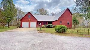 PRIMITIVE HOME PLACE FOR SALE, HOBBY FARM, BARN, & LOG CABIN