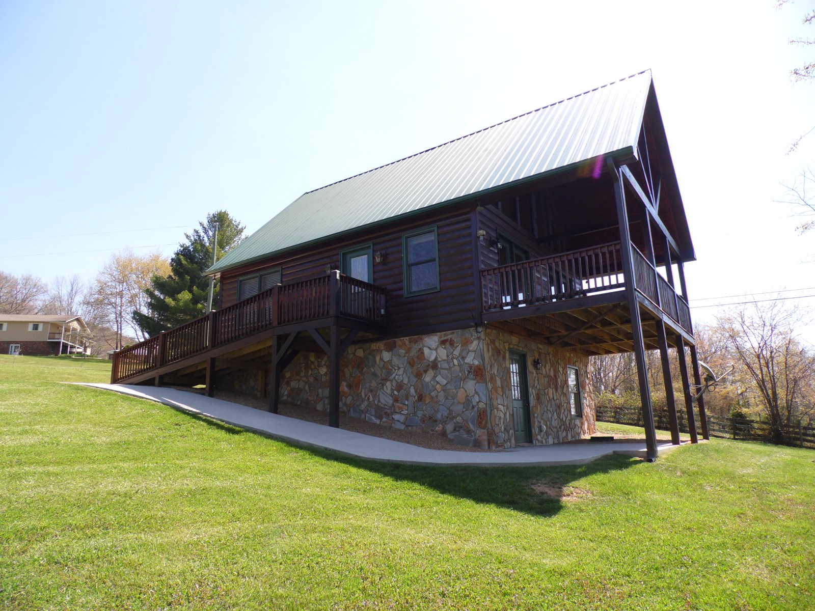 Log Cabin for Sale in Sparta NC Blue Ridge Mountains