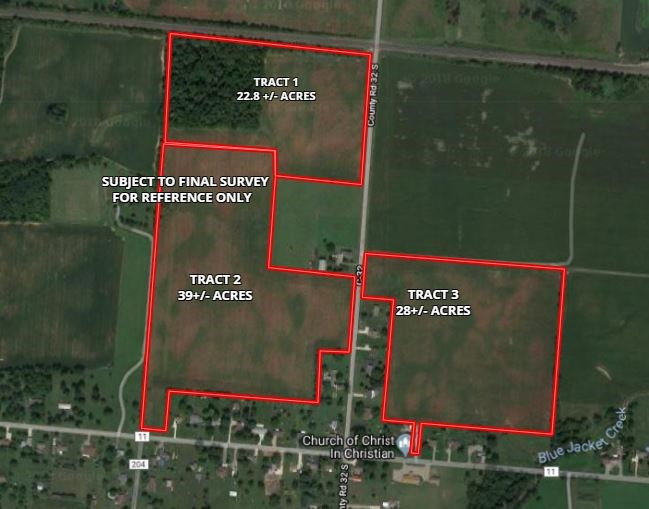 Logan County Vacant Land Auction -  3 Tracts Totaling 91± Ac