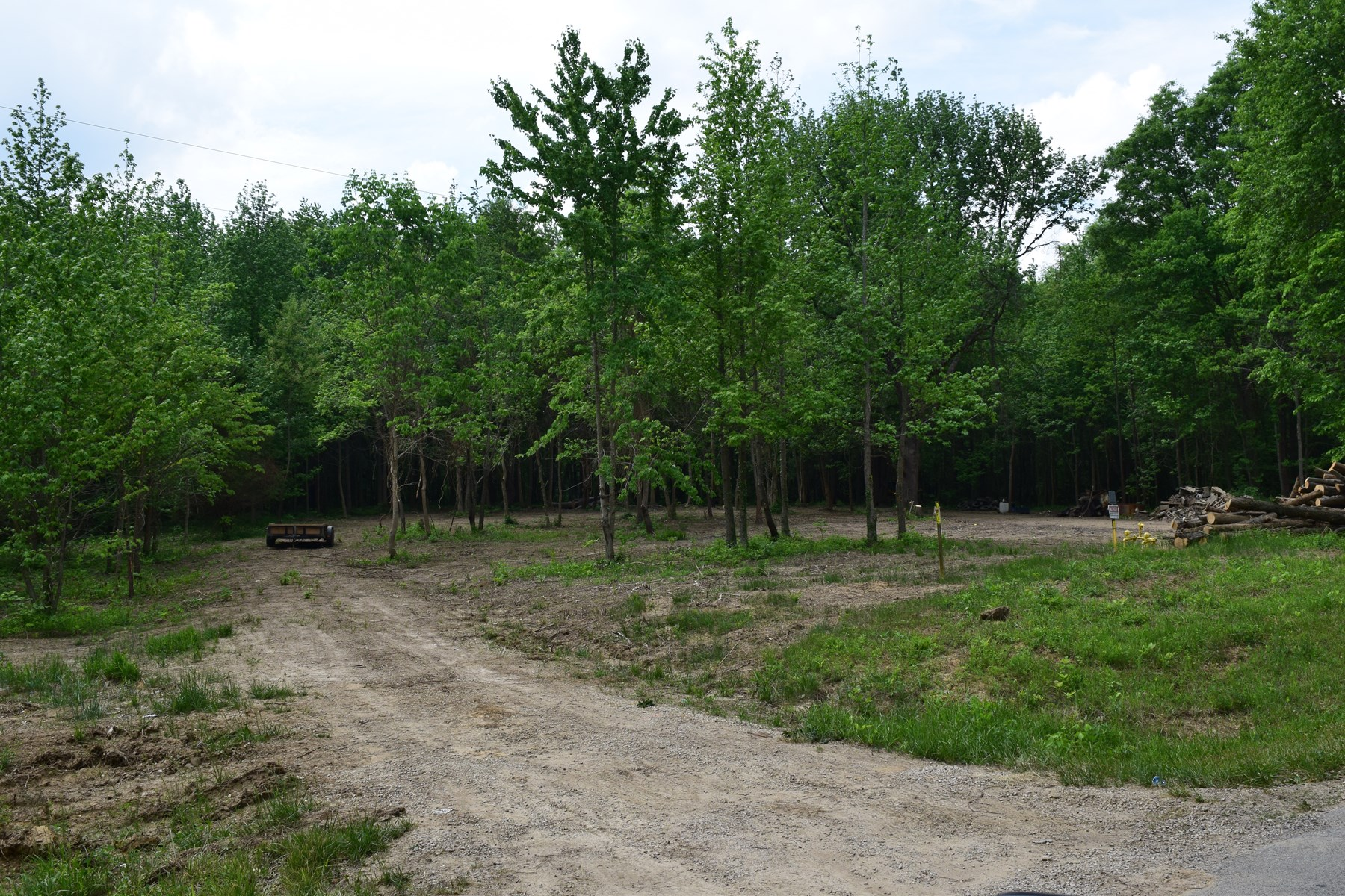 Spacious country lot near Forest Preserve.