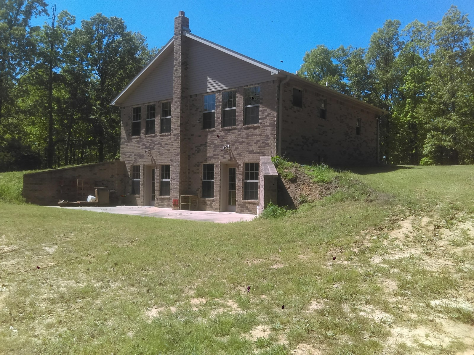 Brick home  for sale with basement and 53 acres of privacy