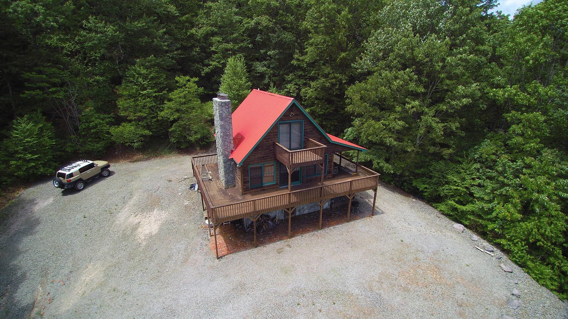 Log Cabin with View Joining Jefferson National Forest