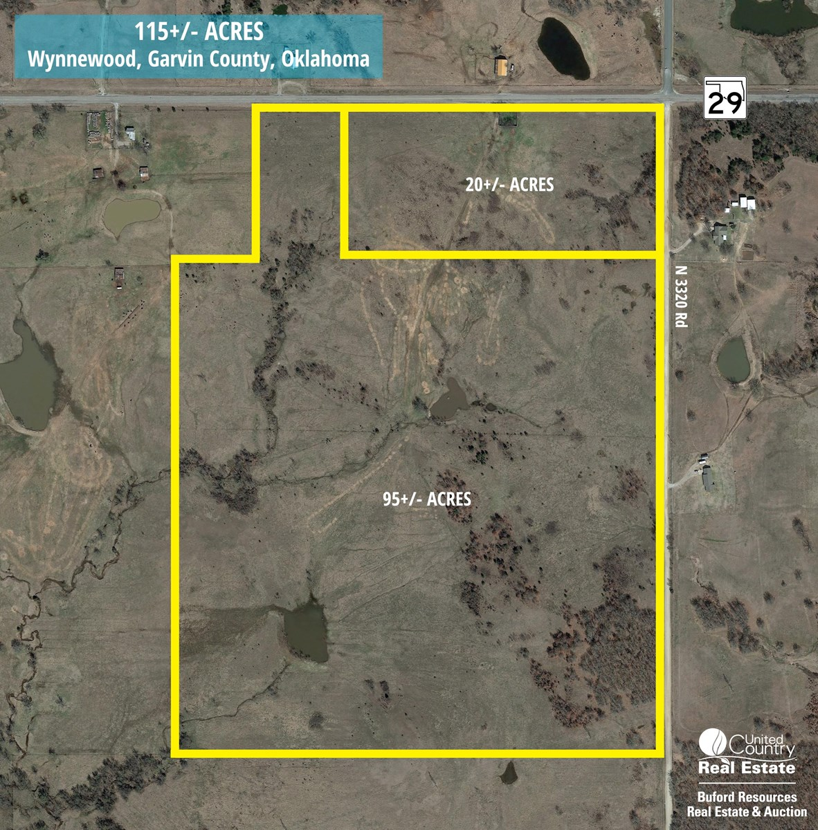LAND PROPERTY FOR SALE WYNNEWOOD GARVIN COUNTY OKLAHOMA