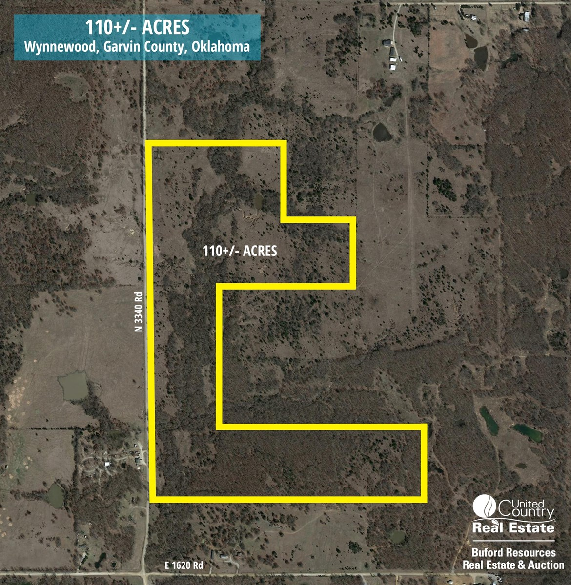 LAND PROPERTY FOR SALE RECREATIONAL WYNNEWOOD GARVIN COUNTY