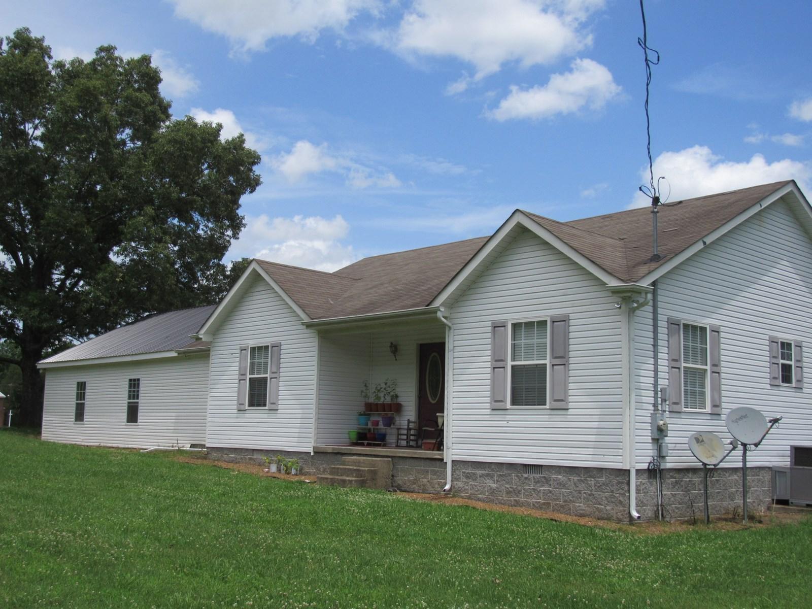 County Home & Acreage for Sale Lobelville TN