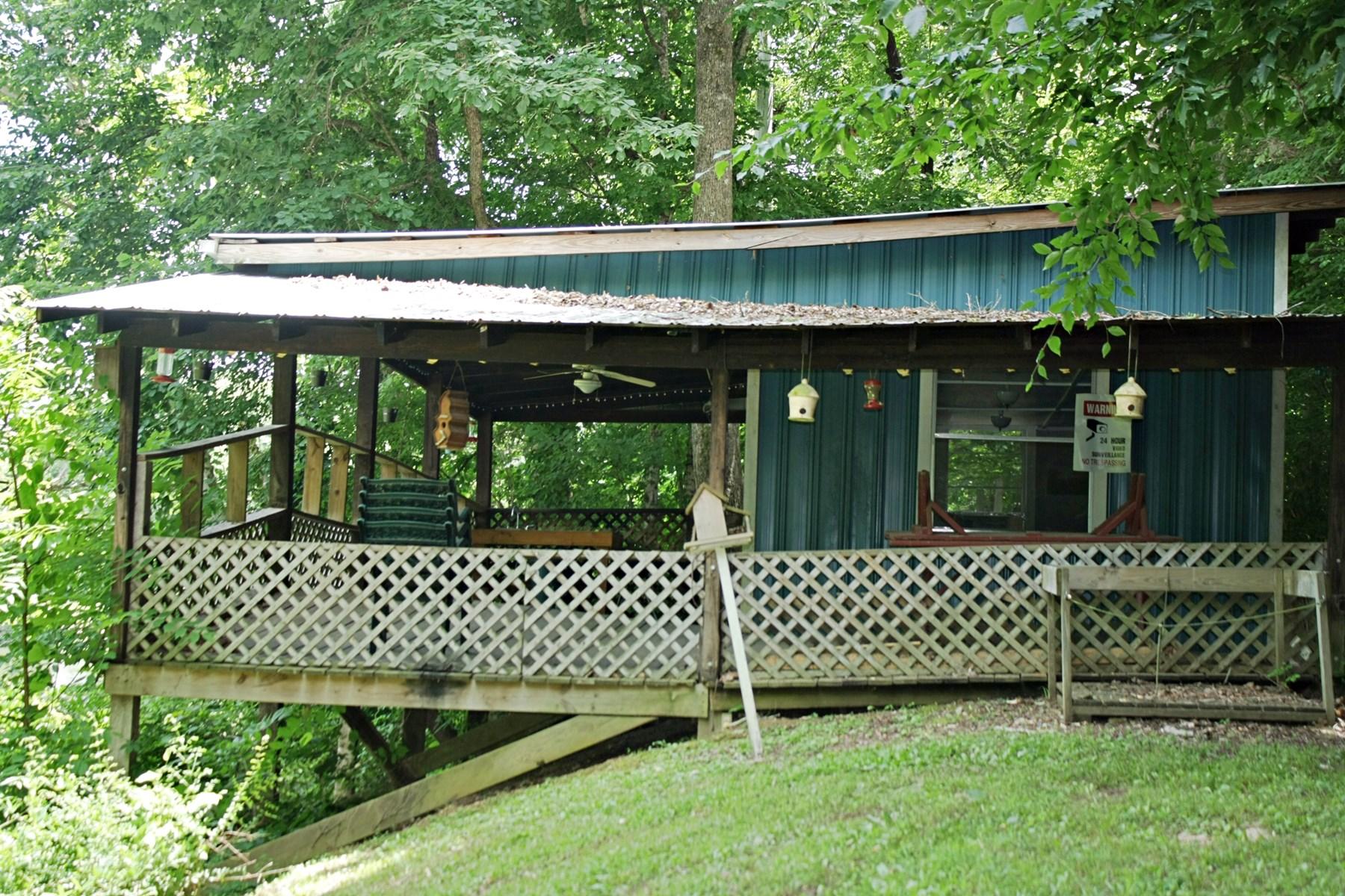 Buffalo River Front Cabin 1.2 Ac. Near Lobelville TN $49,900