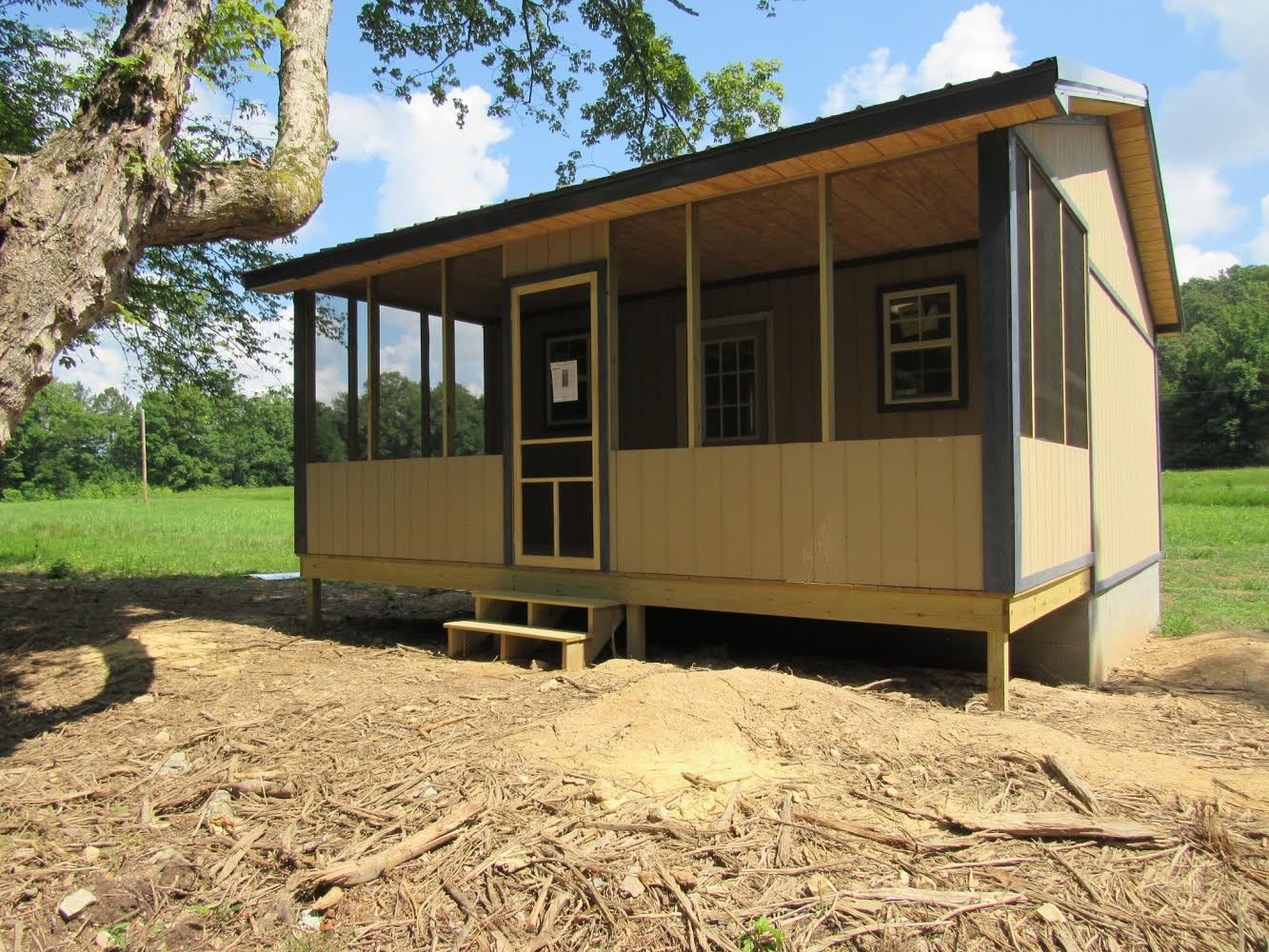 Unfinished Cabin on beautiful 5.92 acres, $59,900