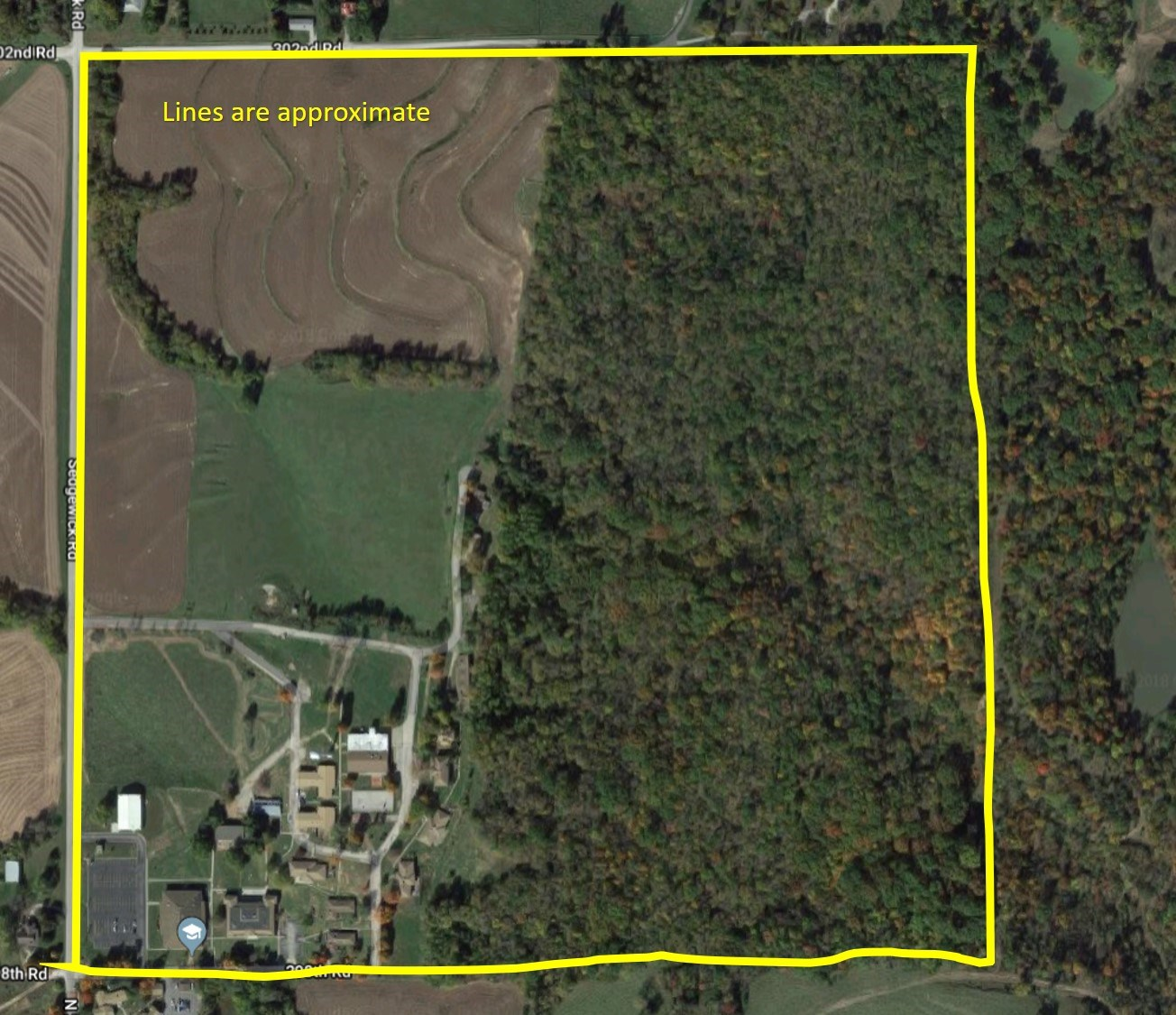 150 Acres m/l Complete Campus Timber & Farm Ground