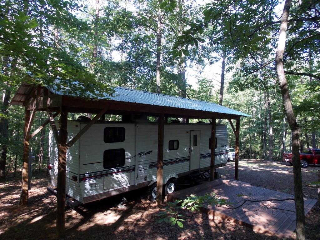 Wooded Lot with Camper Near Philpott Lake in Ferrum VA