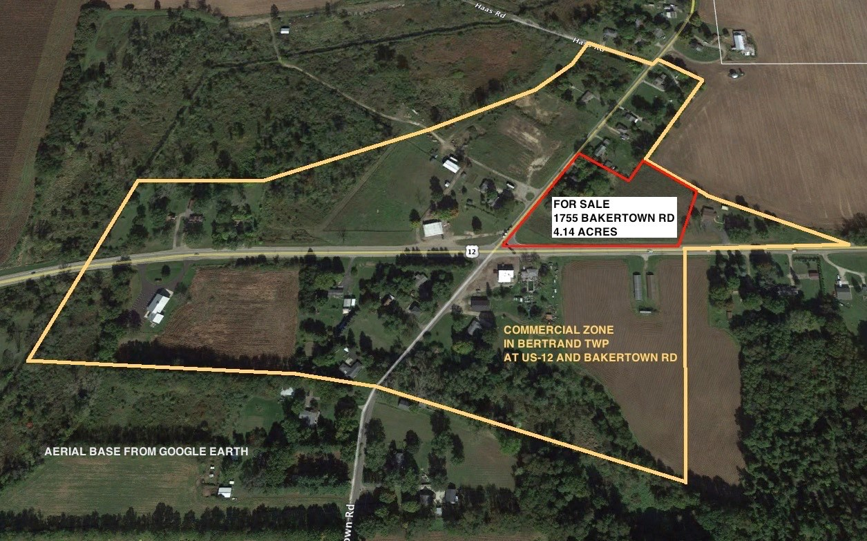 4.14 acres of mostly vacant land - commercially-zoned