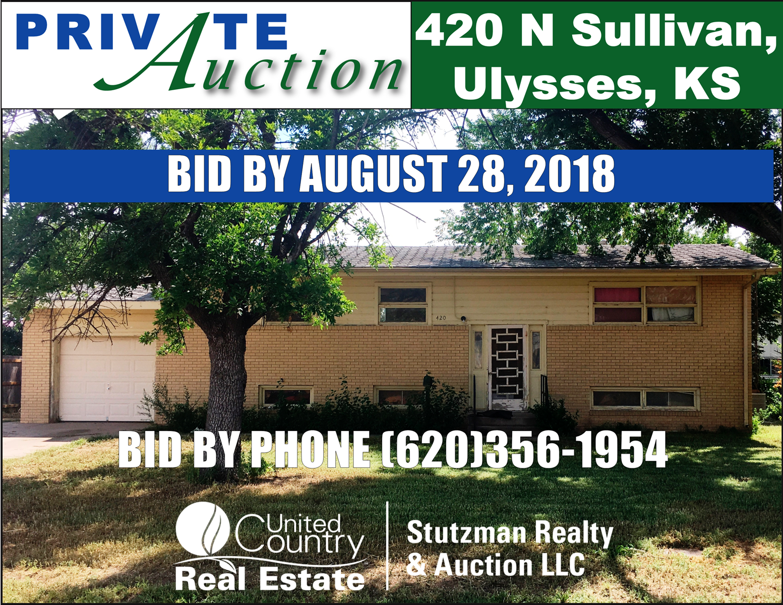 PRIVATE AUCTION - NO RESERVE ON LARGE HOME