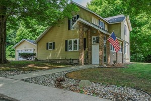 UPDATED  FARMHOUSE SITUATED ON 16 ACRES IN GULL LAKE SCHOOLS