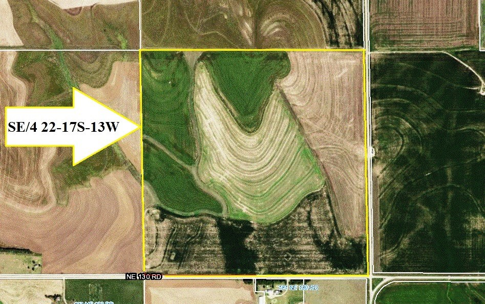 FARM LAND AUCTION, 160 ACRES, BARTON COUNTY, KANSAS