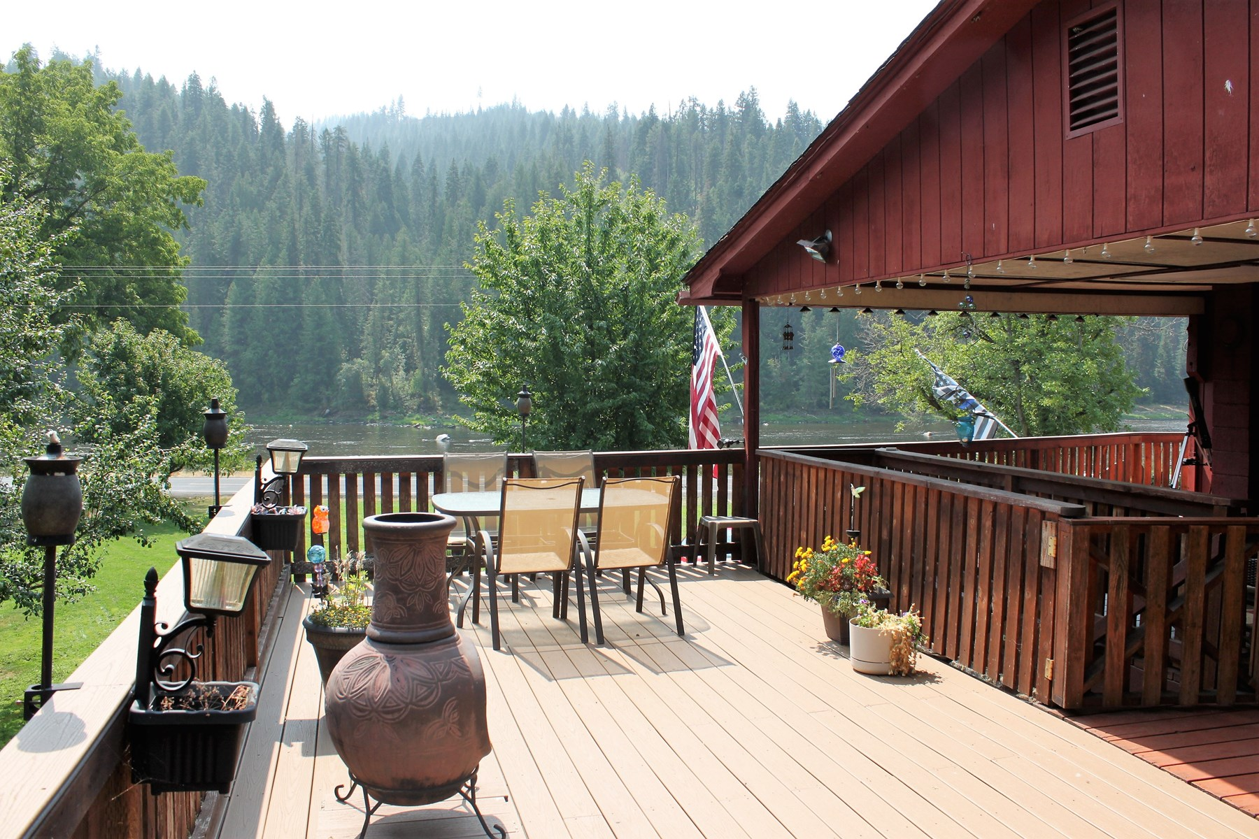 Home overlooks the Middle Fork of the Clearwater River.